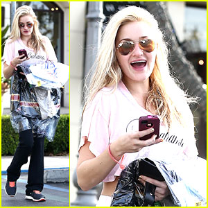 AJ Michalka: Dry Cleaning Pick Up