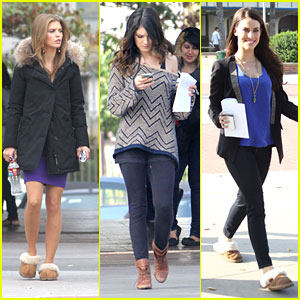 Shenae Grimes: '90210' Set with AnnaLynne McCord & Jessica Lowndes
