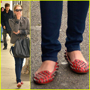 Ashley Benson: Jeffrey Campbell Skull Flats Fashionista