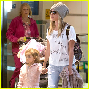 Ashley Tisdale: LAX Landing with Niece Mikayla