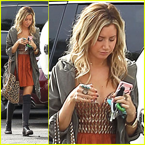 Ashley Tisdale: Leopard & Studs Stylish