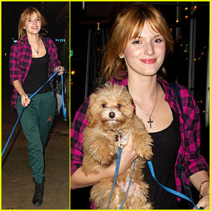 Bella Thorne: Rehearsals with Pup Kingston