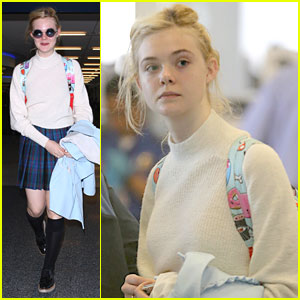 Elle Fanning: New York Flight