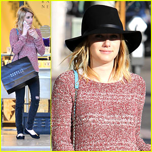 Emma Roberts's Fall Fashion Must Have: Tights!