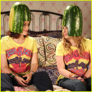 Jane Levy & Allie Grant: Watermelon Heads!