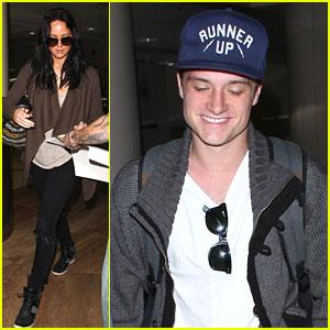 Josh Hutcherson & Jennifer Lawrence: LAX Layover