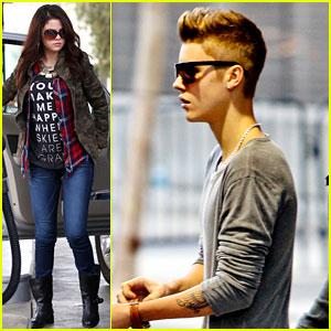 Selena Gomez & Justin Bieber: Separate Saturday Sightings!