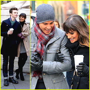 Lea Michele &#038; Chris Colfer: Back in the Big Apple for 'Glee'