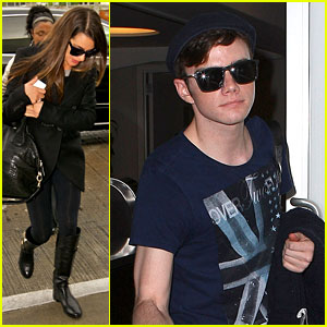 Lea Michele & Chris Colfer: 'Glee' Jetsetters!