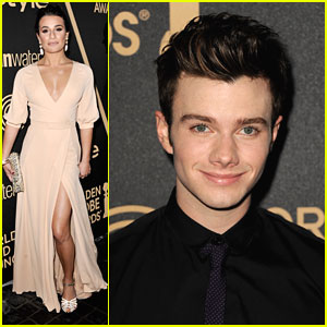 Lea Michele & Chris Colfer: InStyle Golden Globe Party Pair