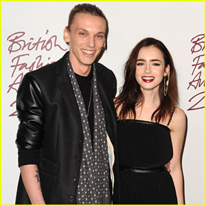 Lily Collins & Jamie Campbell Bower: British Fashion Awards 2012