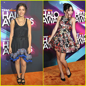 Lulu Antariksa & Samantha Boscarino: TeenNick Halo Awards 2012