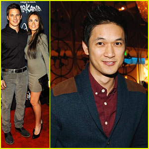 Matt Lanter & Harry Shum, Jr: 'Zarkana' Opening in Vegas!