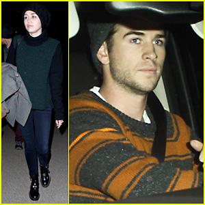 Liam Hemsworth: Miley Cyrus LAX Pick Up!