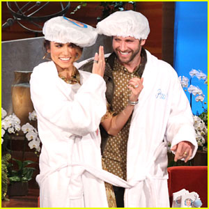 Nikki Reed: Double Robe with Paul McDonald on 'Ellen'