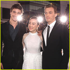 Saoirse Ronan: 'Breaking Dawn' Premiere with Jake Abel & Max Irons