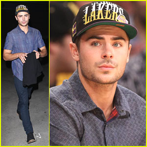Zac Efron: Lakers Game Night