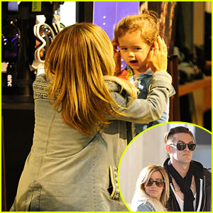 Ashley Tisdale: Burton Snowboard Stop with Niece Mikayla