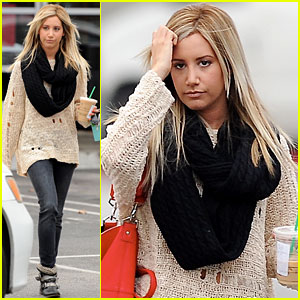 Ashley Tisdale: Starbucks Stop in Studio City