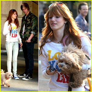 Bella Thorne & Tristan Klier Take Kingston To The Grove