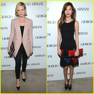 Brittany Snow & Kelsey Chow: Giorgio Armani Beauty Luncheon