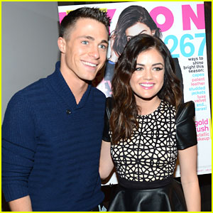 Colton Haynes: Nylon Holiday Dinner with Lucy Hale