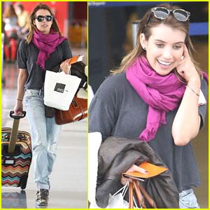 Emma Roberts: LAX Departure