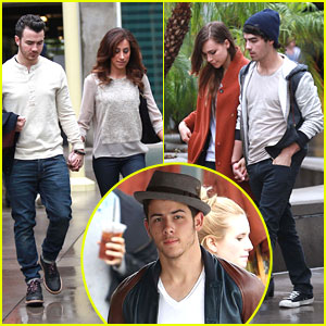 Joe Jonas & Blanda Eggenschwiler: Movie & Lunch with Kevin, Danielle & Nick!