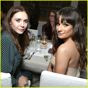 Lea Michele: Marie Claire Dinner with Elizabeth Olsen