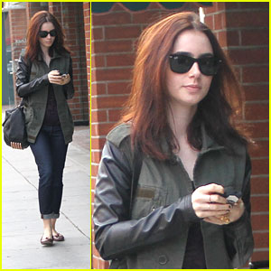 Lily Collins: Holiday Shopping in Beverly Hills