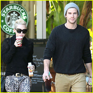 Miley Cyrus: Starbucks Stop with Liam Hemsworth!
