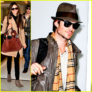 Nina Dobrev & Ian Somerhalder: Off To China After Christmas