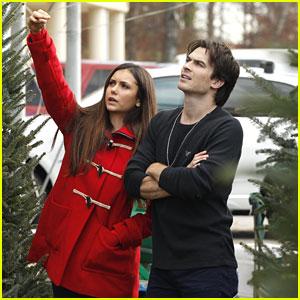 Nina Dobrev & Ian Somerhalder: Christmas Tree Shopping!