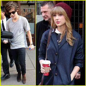 Taylor Swift: Leaving Hotel with Harry Styles!