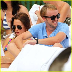 Tom Felton: Poolside With Jade Olivia