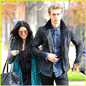Vanessa Hudgens & Austin Butler Head To Holiday Party