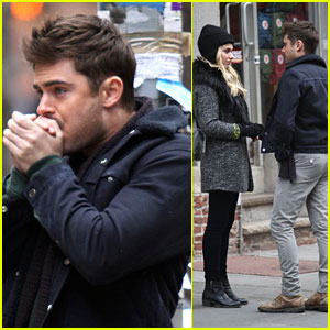 Zac Efron &#038; Imogen Poots: Meet-Cute on 'Dating' Set