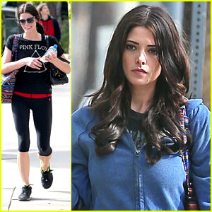 Ashley Greene: Meeting After Gym Stop