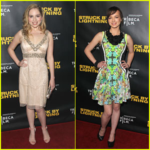 Ashley Rickards & Allie Grant are 'Struck by Lightning'
