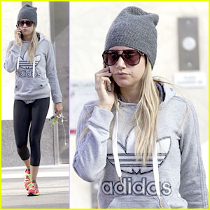 Ashley Tisdale Picks Up 'Left Behind' Book