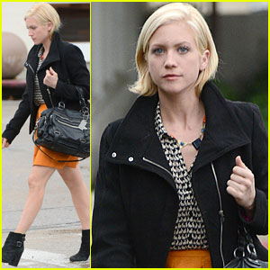 Brittany Snow: Quick Salon Stop