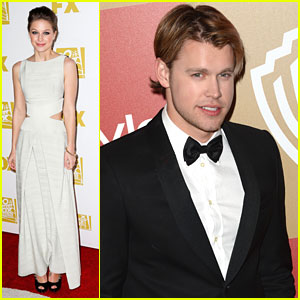 Melissa Benoist, Mark Salling & Chord Overstreet: 'Glee' Goes To the Golden Globes