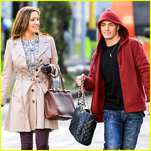 Colton Haynes Swipes Willa Holland's Purse on 'Arrow' Set