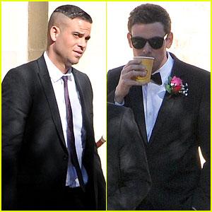 Cory Monteith: 'Glee' Set With Mark Salling!