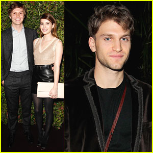 Keegan Allen: Ferragamo Dinner with Emma Roberts & Evan Peters