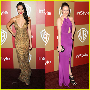 Jamie Chung & Jena Malone: InStyle Golden Globe Party 2013