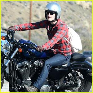 Josh Hutcherson: Motorcycle Ride in Malibu