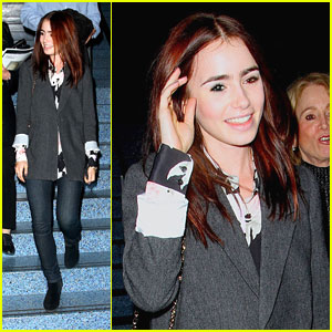 Lily Collins: LA Convention Center Stop