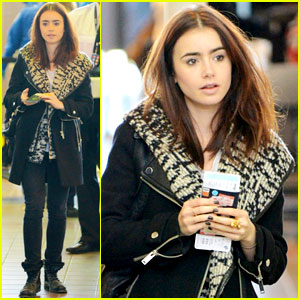 Lily Collins: LAX Depature
