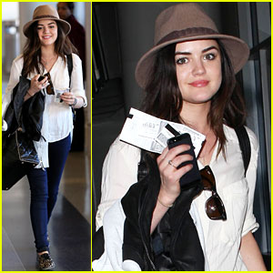 Lucy Hale: Lovely at LAX